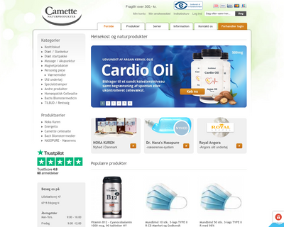 camette.dk website