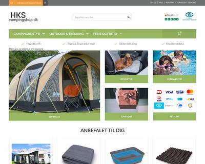 campingshop.dk website