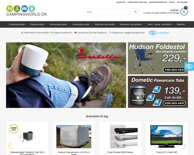 campingworld.dk website