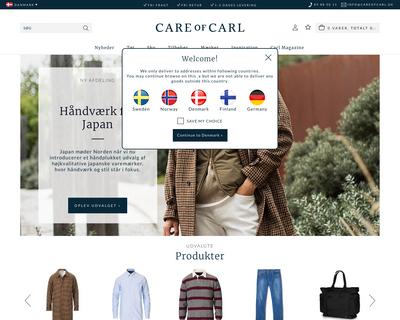 careofcarl.dk website