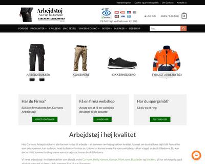 carlsens-arbejdstoj.dk website