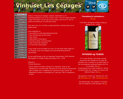 cepages.dk website