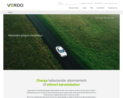 charge.dk website