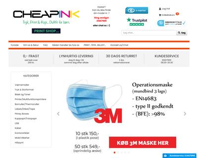 cheapink.dk website