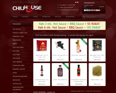 chilihouse.dk website
