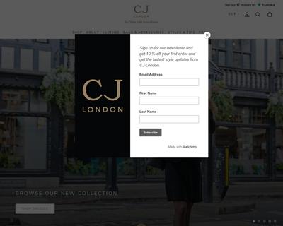 cj-london.com website