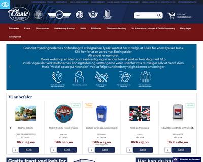classic-center.dk website