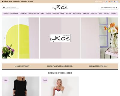 clothingbyros.dk website