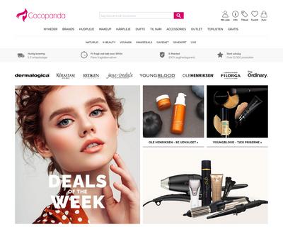 www.cocopanda.dk website