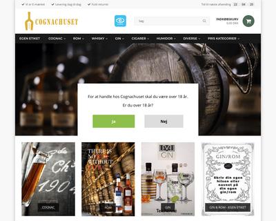 cognachuset.dk website