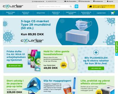 coolpriser.dk website