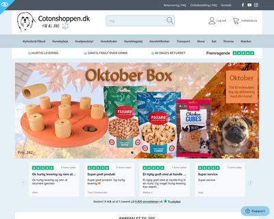 cotonshoppen.dk website