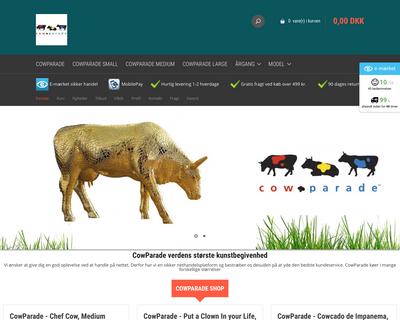 cowparade-shop.dk website