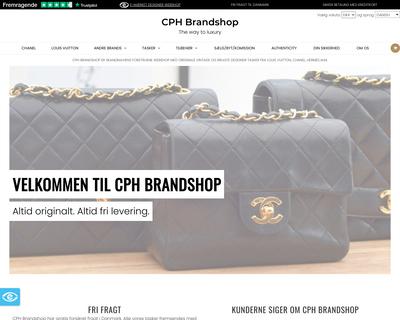 www.cphbrandshop.dk website