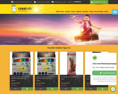 creakids.dk website