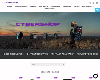 cybershop.dk website
