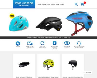 cykelhjelm.dk website