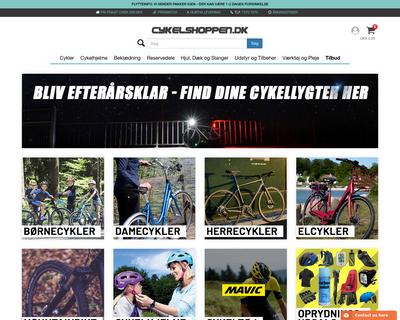cykelshoppen.dk website
