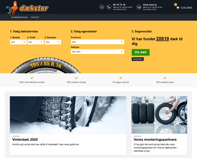daekster.dk website