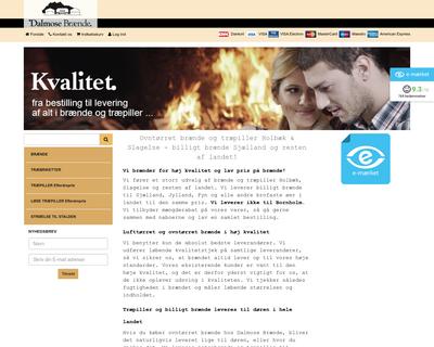 dalmosebraende.dk website