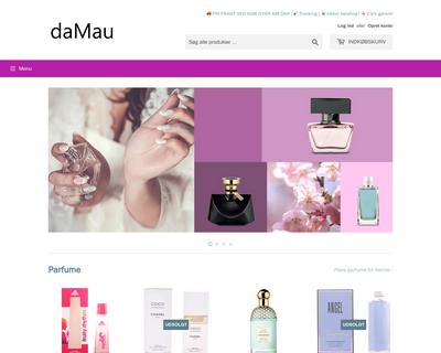 damau.dk website