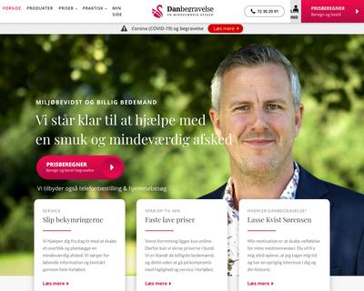 danbegravelse.dk website