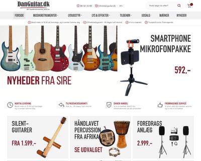danguitar.dk website