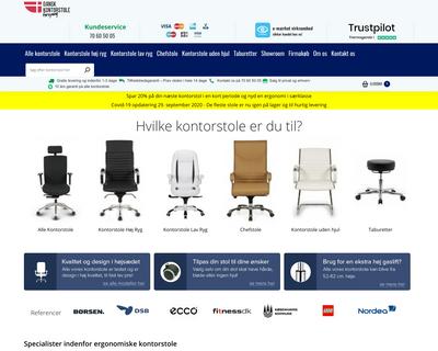 www.kontorstole.dk website