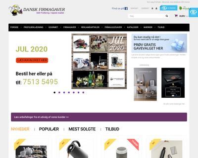 dansk-firmagaver.dk website