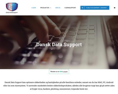 danskdatasupport.dk website