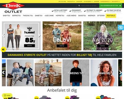 www.danskoutlet.dk website