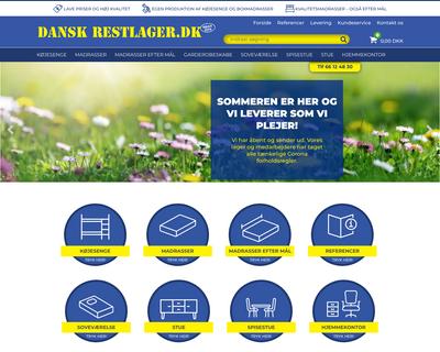 danskrestlager.dk website