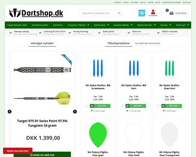 dartshop.dk website