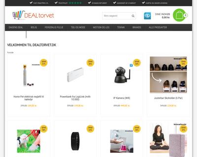 dealtorvet.dk website