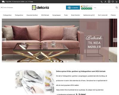 dekoria.dk website