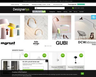 designerlys.dk website