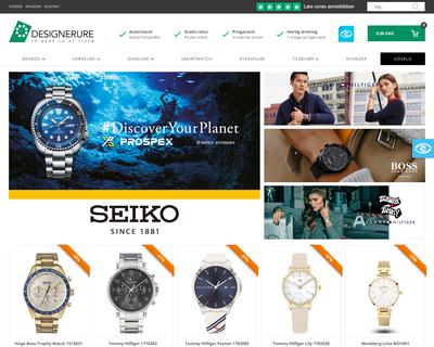 designerure.dk website