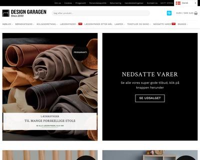 www.designgaragen.dk website