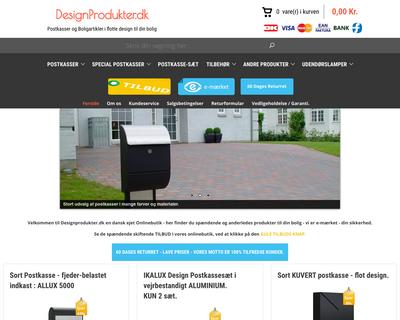 designprodukter.dk website