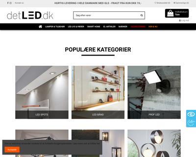 detled.dk website