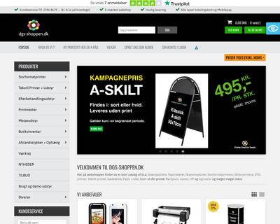 dgs-shoppen.dk website
