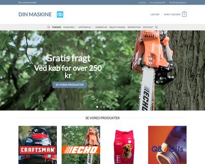 dinmaskine.dk website
