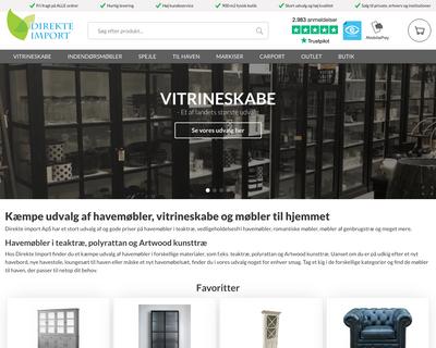 direkteimport.dk website