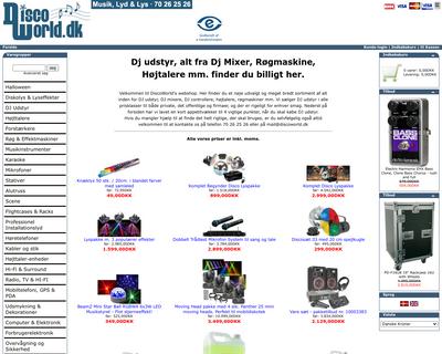 discoworld.dk website