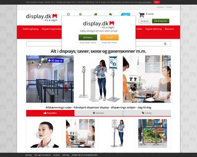 display.dk website