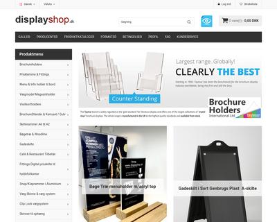 displayshop.dk website