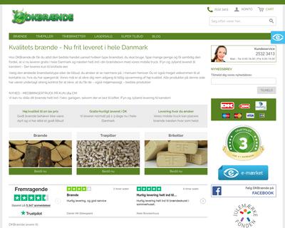 dkbrænde.dk website