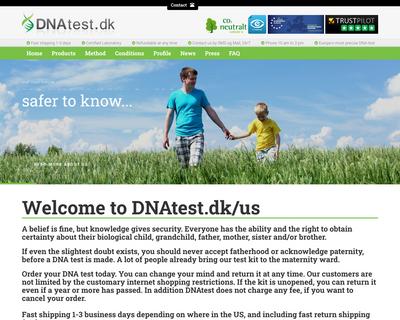 dnatest.dk website