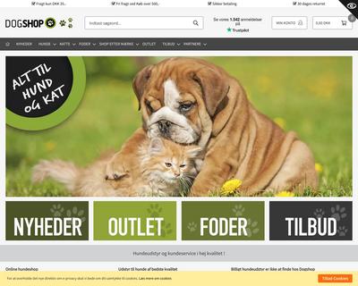 dogshop.dk website