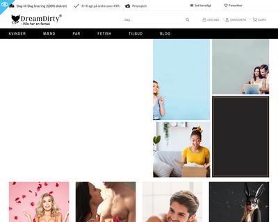 dreamdirty.dk website